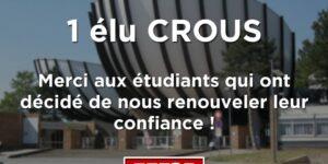 Image Résultats CROUS de Reims : l'UNI conserve son élu !