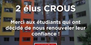 Image L'UNI remporte 2 sièges au CROUS de Montpellier !
