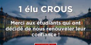 Image L'UNI Pau conserve son élu au CROUS de Bordeaux !