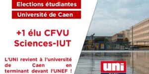 Image L'UNI revient dans les conseils de l'université de Caen !
