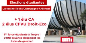 Image L'UNI majoritaire à Troyes !