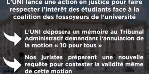 Image Paris 1 Panthéon-Sorbonne : les étudiants et le mérite sacrifiés, l'UNI lance une action en justice pour faire respecter l'intérêt des étudiants